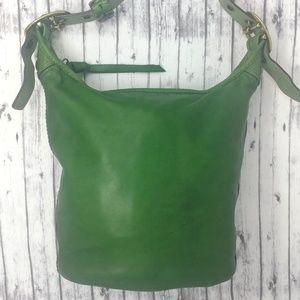COACH-VTG Bleecker Duffle/Bucket/Hobo Leather Bag